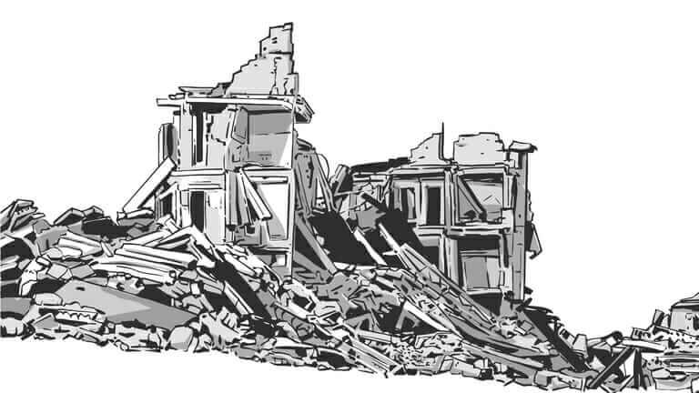 古屋の解体